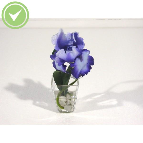 Bouquet centre de table iris bouquet artificiel maison for Plante exterieur plumeau