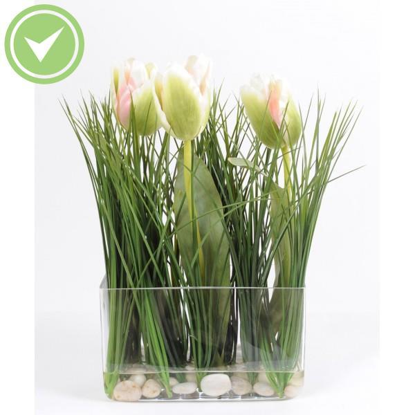 Jardiniere avec fleurs artificielles maison et fleurs for Geranium artificiel jardiniere