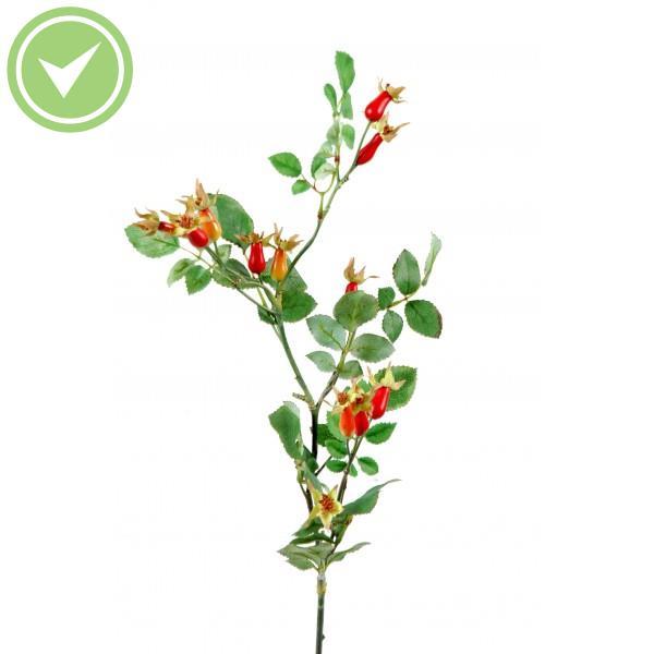 Branche Eglantier Fruit Fleur artificielle