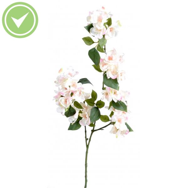 Cerisier fleur tige 90 blanc fleur artificielle en tige for Plante exterieur plumeau