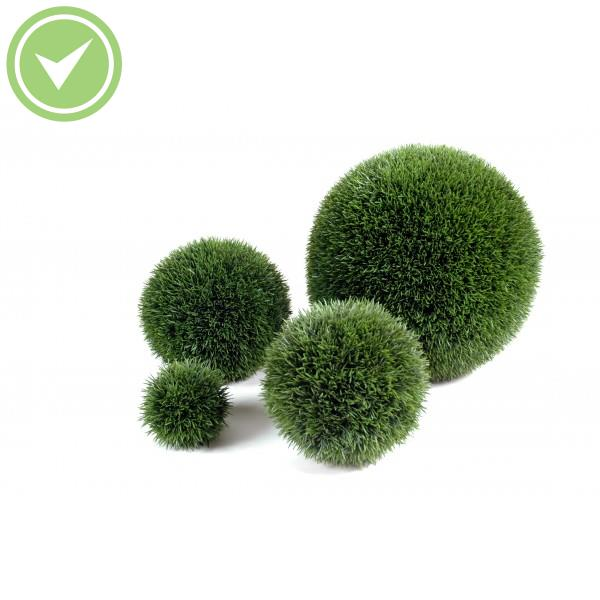 Herbe boule regular topiaire artificielle maison et fleurs for Arbre artificiel exterieur