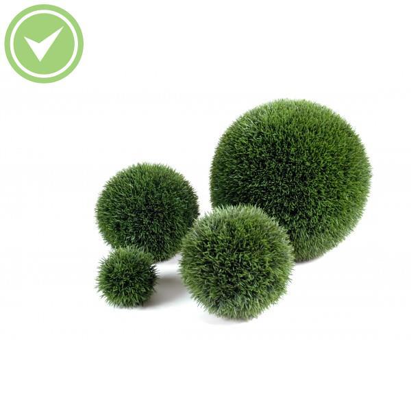 Herbe boule regular topiaire artificielle maison et fleurs for Arbre artificielle