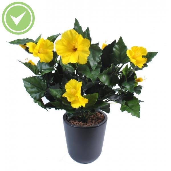 hibiscus piquet plante artificielle fleurie maison et fleurs. Black Bedroom Furniture Sets. Home Design Ideas