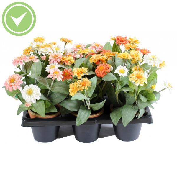 Hortensia mini pot en barquette de 6 plante artificielle for Mini fausse plante
